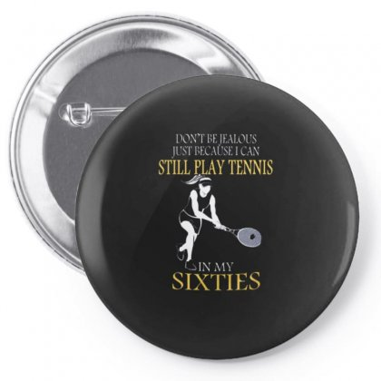 Tennis At Sixties Woman Pin-back Button Designed By Hoainv