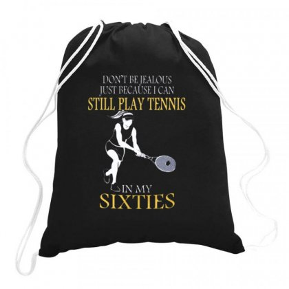 Tennis At Sixties Woman Drawstring Bags Designed By Hoainv