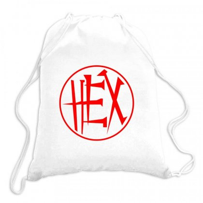 The Hex Girls Logo Drawstring Bags Designed By Hose White