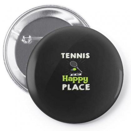 Tennis Is My Happy Flace Pin-back Button Designed By Hoainv