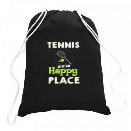 Tennis Is My Happy Flace Drawstring Bags Designed By Hoainv