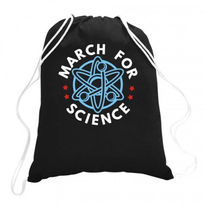 Science March Drawstring Bags Designed By Milamaftah