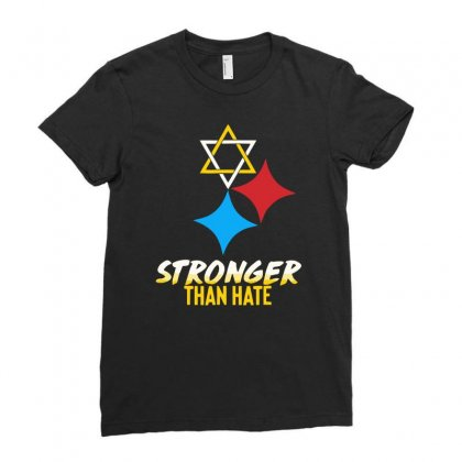 Stronger Than Hate Funny Ladies Fitted T-shirt Designed By Milamaftah