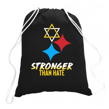 Stronger Than Hate Funny Drawstring Bags Designed By Milamaftah