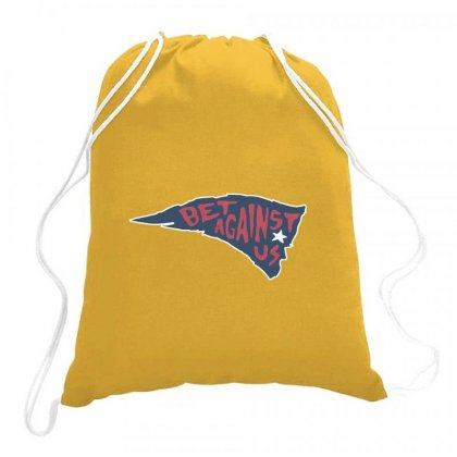 Bet Against Us Drawstring Bags Designed By Hose White