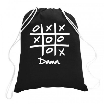 Tic Tac Toe Draw Drawstring Bags Designed By Milamaftah