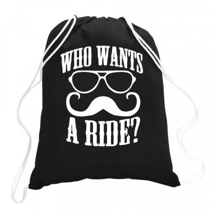 Who Wants To Ride Drawstring Bags Designed By Milamaftah