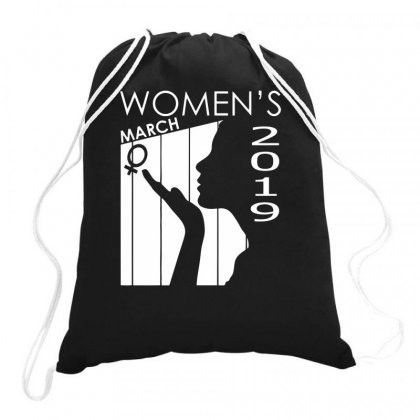 Women's March 2019 Funny Drawstring Bags Designed By Milamaftah