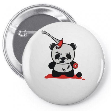 Zombie Panda Funny Pin-back Button Designed By Milamaftah