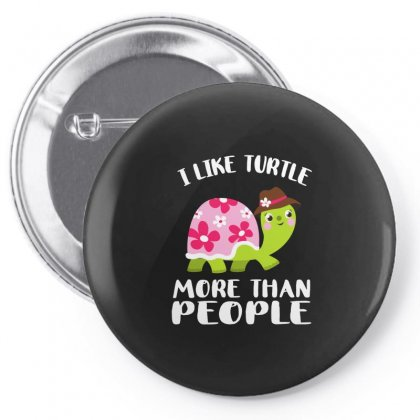 I Like Turtle  More Than People Pin-back Button Designed By Hoainv