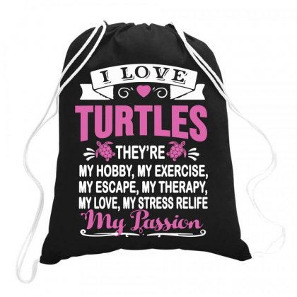 I Love Turtles T Shirt Drawstring Bags Designed By Hoainv