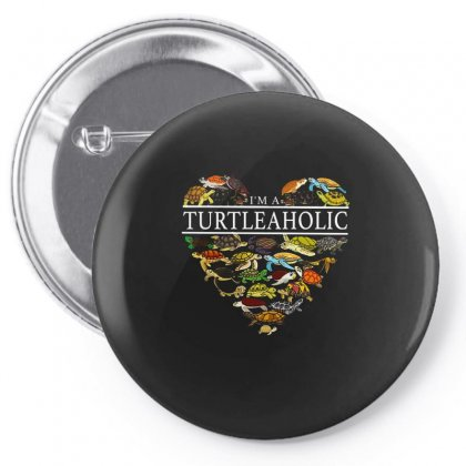 I'm A Turtleaholic Pin-back Button Designed By Hoainv