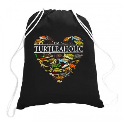 I'm A Turtleaholic Drawstring Bags Designed By Hoainv