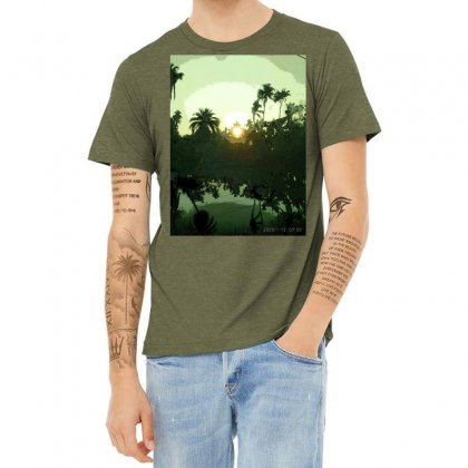 Land Scape Heather T-shirt Designed By Achintya