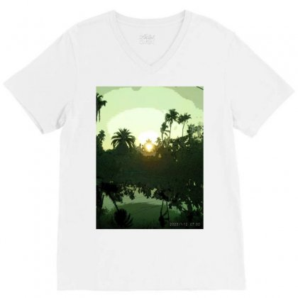 Land Scape V-neck Tee Designed By Achintya