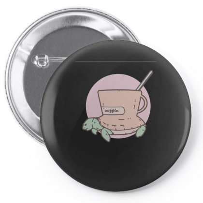 Coffle Turtle Pin-back Button Designed By Hoainv
