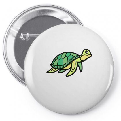 Cute Little Sea Turtle Buddy Pin-back Button Designed By Hoainv