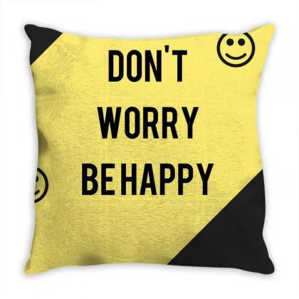Happy Throw Pillow Designed By Vj575789