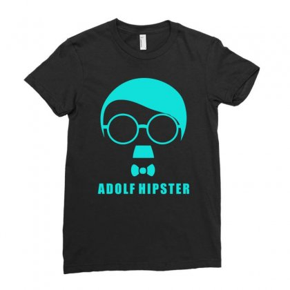 Adolf Hipster Ladies Fitted T-shirt Designed By S4bilal