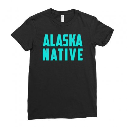 Alaska Native Ladies Fitted T-shirt Designed By S4bilal