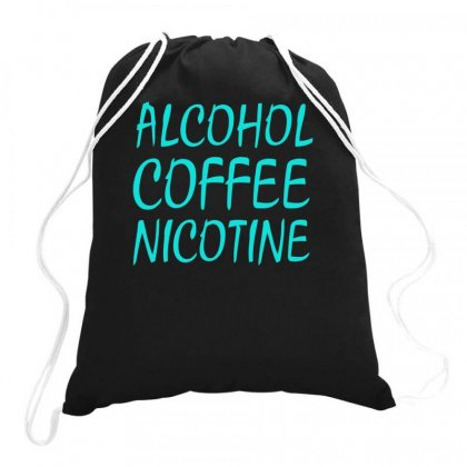 Alcohol Coffee Nicotine Drawstring Bags Designed By S4bilal