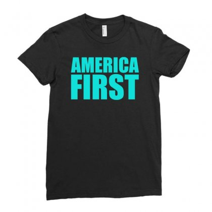 America First Ladies Fitted T-shirt Designed By S4bilal