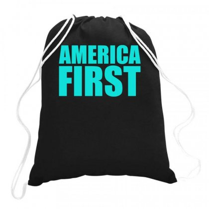 America First Drawstring Bags Designed By S4bilal