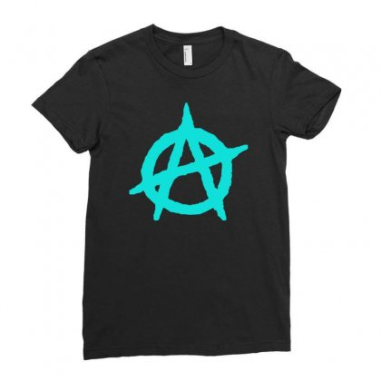 Anarchy Anarchist Symbol Ladies Fitted T-shirt Designed By S4bilal
