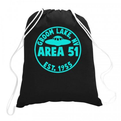 Area 51 Drawstring Bags Designed By S4bilal