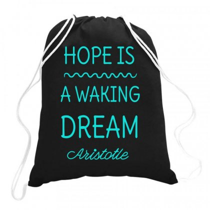 Aristotle Philosophy Quote Drawstring Bags Designed By S4bilal