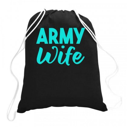 Army Wife Drawstring Bags Designed By S4bilal