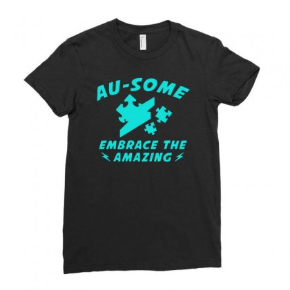 Au Some Ladies Fitted T-shirt Designed By S4bilal