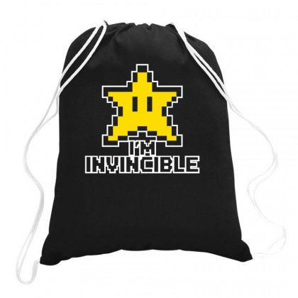I'm Invincible Drawstring Bags Designed By G3ry