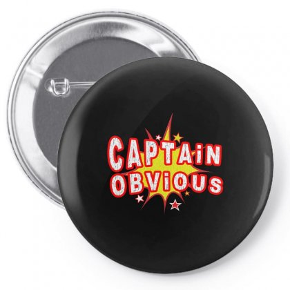 Captain Obvious Pin-back Button Designed By Igun