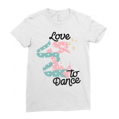Love To Dance For Light Ladies Fitted T-shirt Designed By Gurkan
