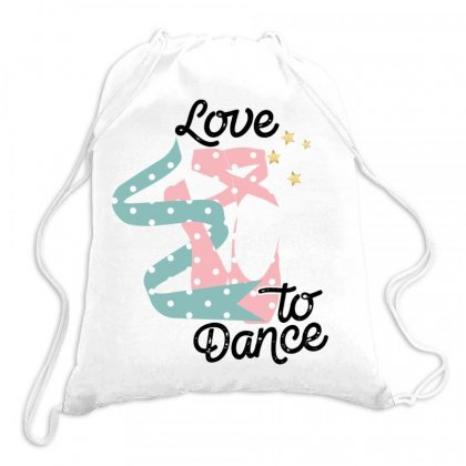 Love To Dance For Light Drawstring Bags Designed By Gurkan
