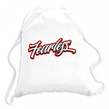 Fearless Licence Plate Drawstring Bags Designed By Tiococacola