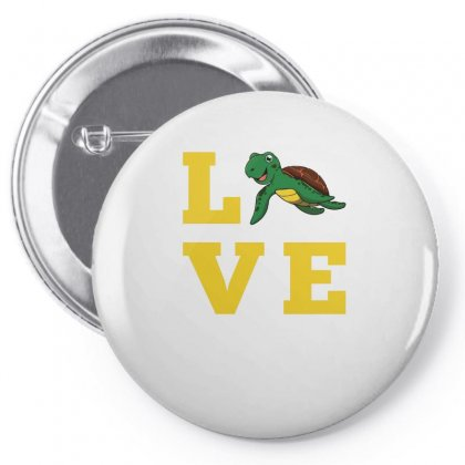 I Love Turtles Funny Kids Quote Sea Drawing Pin-back Button Designed By Hoainv