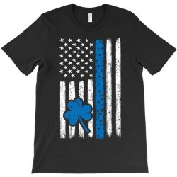Police American Flag Cop St Patricks Day T-shirt Designed By Kakashop