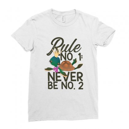 Rule No. 1, Never Be No. 2 Turtle Ladies Fitted T-shirt Designed By Hoainv