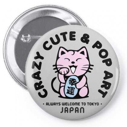 Tokyo Japan Cat Pop Art Pin-back Button Designed By Designisfun
