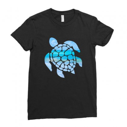 Sea Turtle Ladies Fitted T-shirt Designed By Hoainv