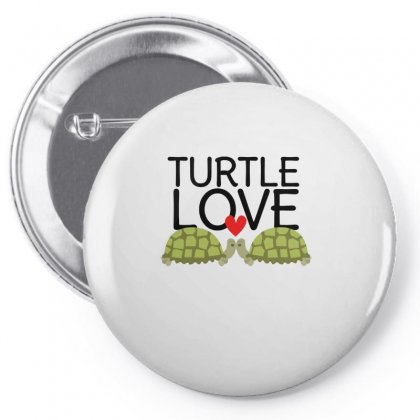 Turtle Love Pin-back Button Designed By Hoainv