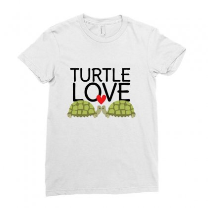 Turtle Love Ladies Fitted T-shirt Designed By Hoainv