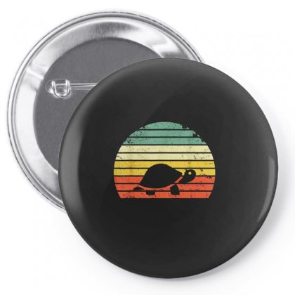 Turtle Retro Vintage Pin-back Button Designed By Hoainv