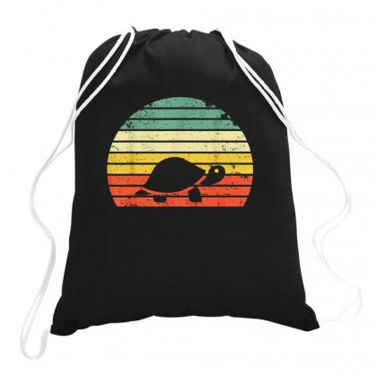 Turtle Retro Vintage Drawstring Bags Designed By Hoainv