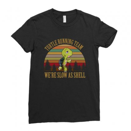 Turtle Running Team Retro Vintage Ladies Fitted T-shirt Designed By Hoainv