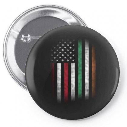 Vintage Irish American Flag Ireland Pin-back Button Designed By Kakashop