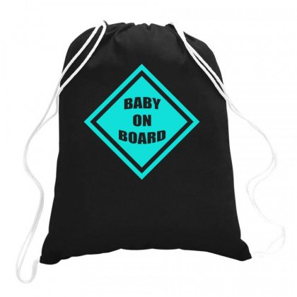 Baby On Board Drawstring Bags Designed By S4bilal
