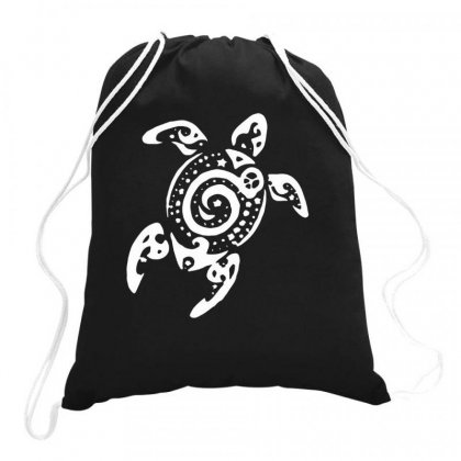 Tribal Sea Turtle Drawstring Bags Designed By Hoainv